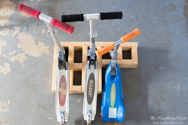 DIY Scooter Stand