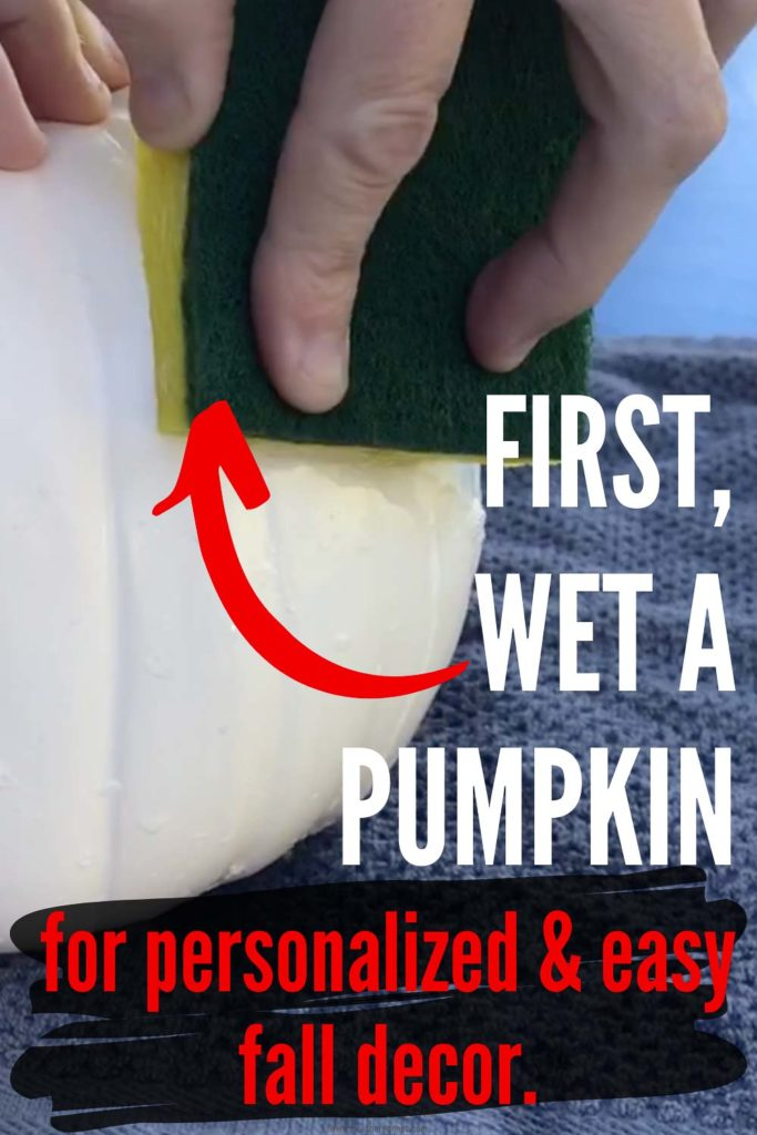 Quick and Easy No Carve Faux Pumpkin Craft Idea!