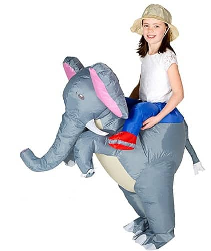 inflatable riding an elephant costume