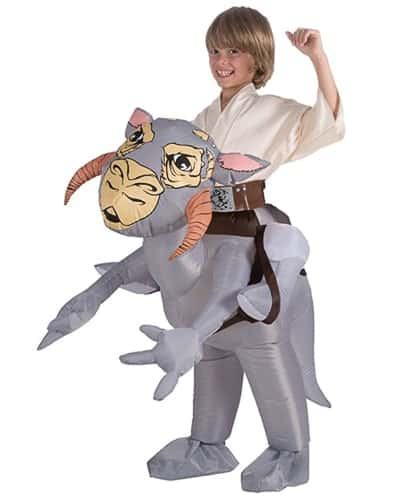 A person wearing a costume, with Star Wars