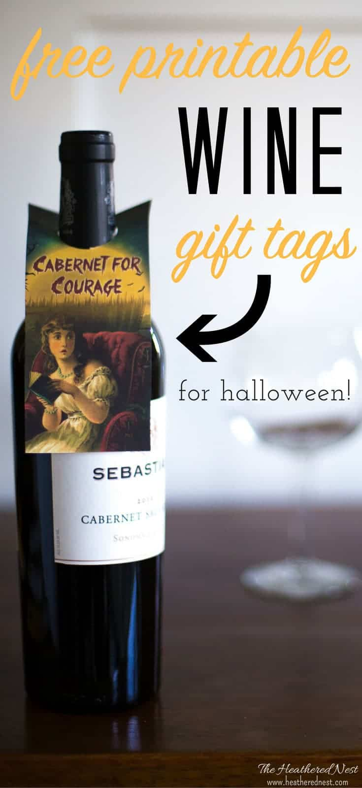 Awesome Halloween free printables! Print these wine tags to treat your adult friends this fall! Lots of great options available for these personalized wine labels/wine tags!
