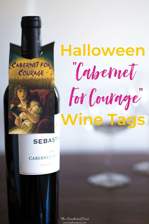 Wine Tag free printables for Halloween! Print these wine tags to treat your adult friends this fall! Lots of great options available for these personalized wine labels/wine tags! #wineprintablesfree #freeprintablehalloweengifttags #winegifttags #adulthalloweenpartyideas #halloweenprintables #heatherednest