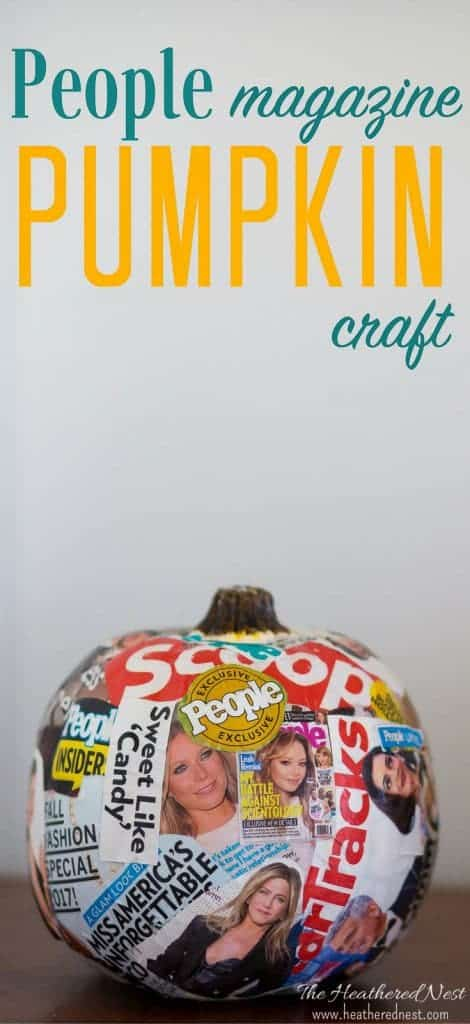 Ha! Not your every day DIY pumpkin craft here! What a fun #fall #pumpkin #craft idea from Modge Podge and magazines?