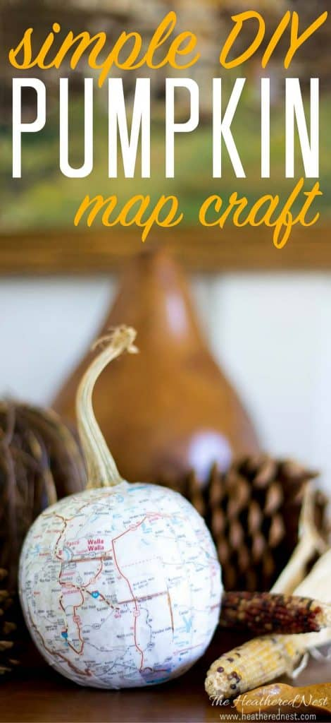 Easy pumpkin DIY project using maps! Gives them such a nice, neutral look.