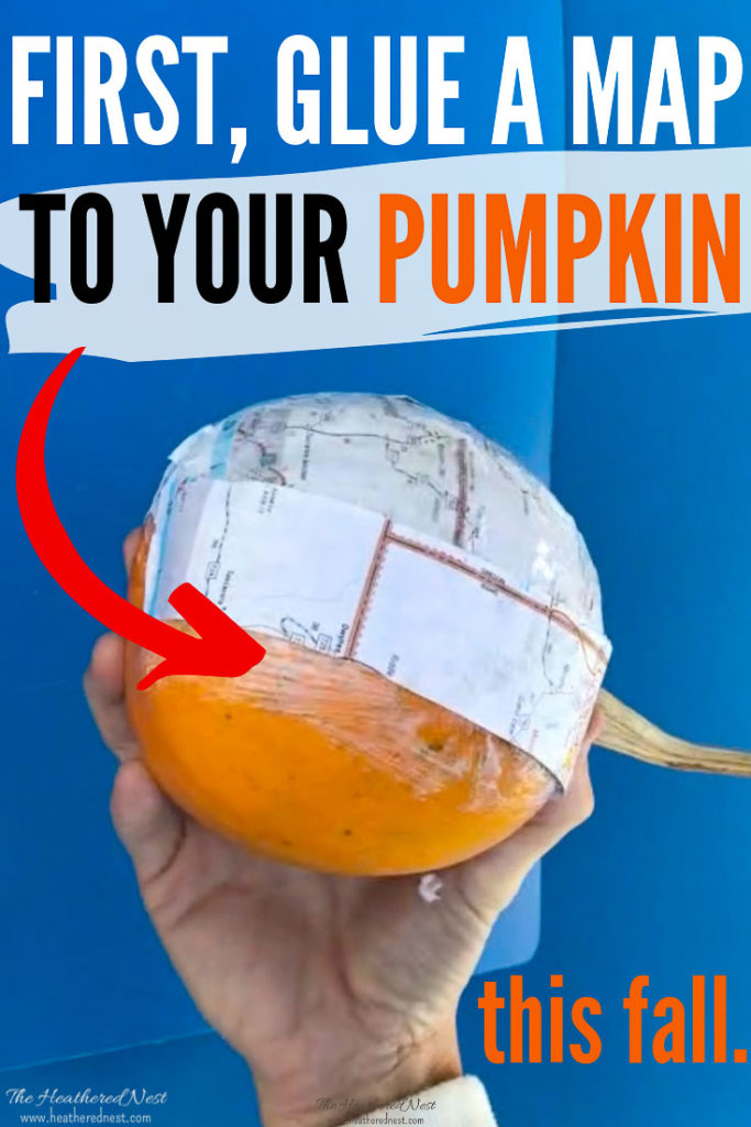 An easy and inexpensive fall pumpkin craft idea! No carving required!