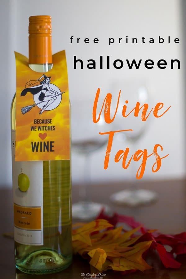 photograph about Free Printable Wine Bottle Label called Witches ♥️ Wine Enjoyment Halloween No cost Printable Wine Labels