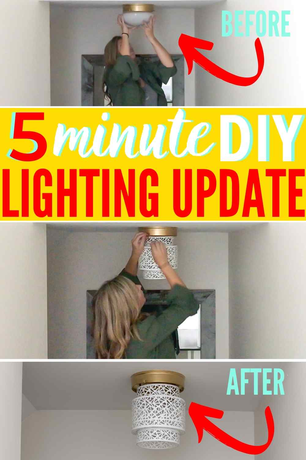 DIY Ceiling Light Shades Hack