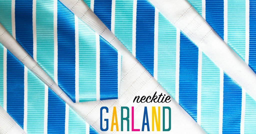 Necktie DIY Garland Decoration