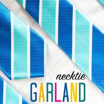 Oh what a fun idea! DIY garland decoration from neckties!! I LOVE this idea! #garland #christmas #holiday #decorate