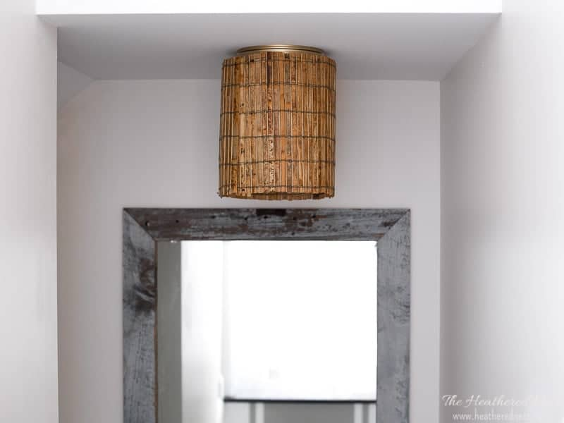 Easy DIY ceiling lamp shades to hide a boob light