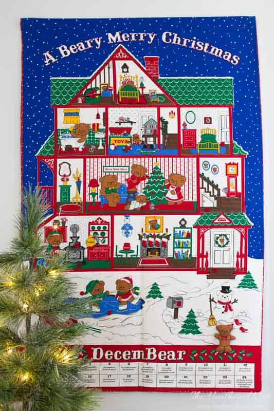 beary merry christmas advent calendar for kids