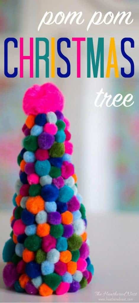 How FUN is this Christmas pom pom tree ? craft? ☃️ #pompomcrafts #Christmastreecraft #pompomchristmastree #Christmascraft