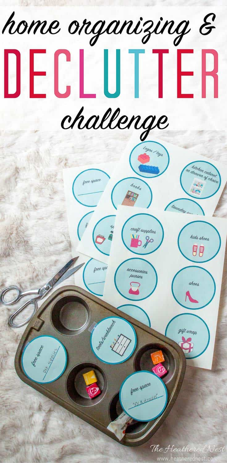 Clearing Clutter Challenge & Home Organizing Ideas | The Heathered Nest