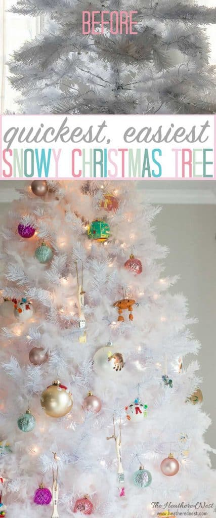 How To Get The Snowy Christmas Tree Look The Easy Way