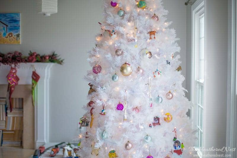 How to get the snowy Christmas tree look, the EASY way!