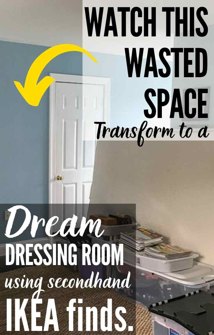 UNBELIEVABLE Transformation! Used IKEA Pax completely transform this previously wasted space into a dream dressing room