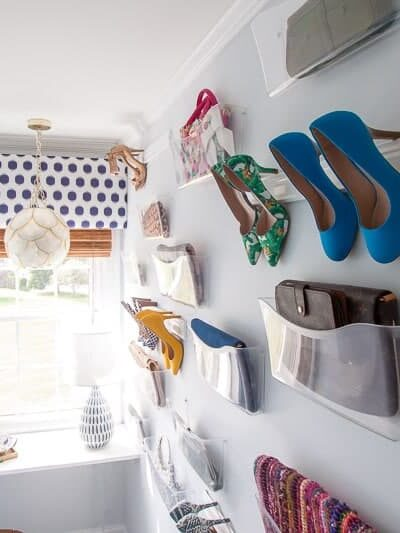 DIY closet - DIY purse organizer and DIY shoe storagefor wall