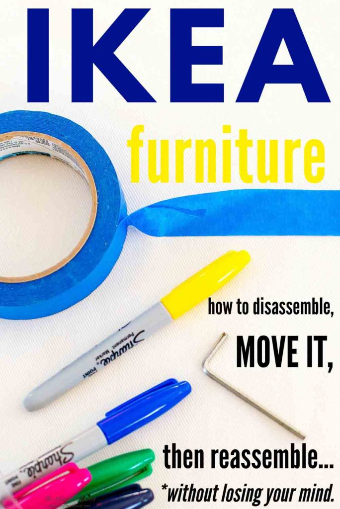 IKEA Furniture Assembly & Disassembly Tips & Tricks. Moving with Ikea furniture in tow? Here's how to do it without losing your mind!! If you've thought of buying secondhand used IKEA furniture, you need this! GREAT tips!