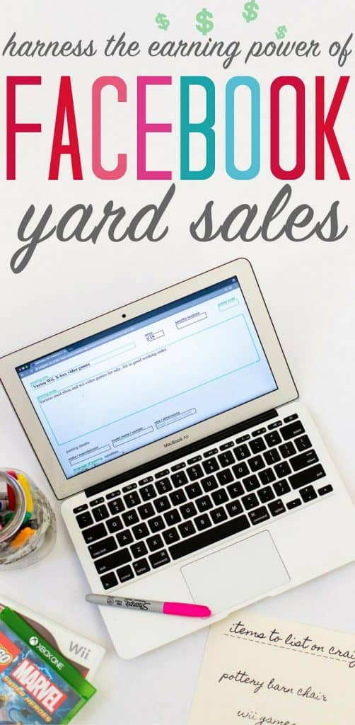 Earn money while organizing? Here's how to #organize and #declutter your #home with the help of Facebook yard sales and Craigslist. Learn how to maximize your profits! #facebookyardsales #craigslist #onlineyardsales #onlinegaragesales #howtodeclutter #homeorganization