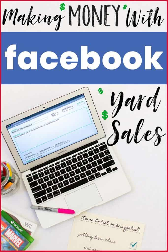 Earn money while organizing? Here's how to #organize and #declutter your #home with the help of Facebook yard sales and Craigslist. Learn how to maximize your profits! #facebookyardsales #craigslist #onlineyardsales #onlinegaragesales #howtodeclutter #homeorganization #howtousecraigslist #facebookgaragesales #howtosellonfacebook #howtoselloncraigslist #declutter #decluttering #organizing
