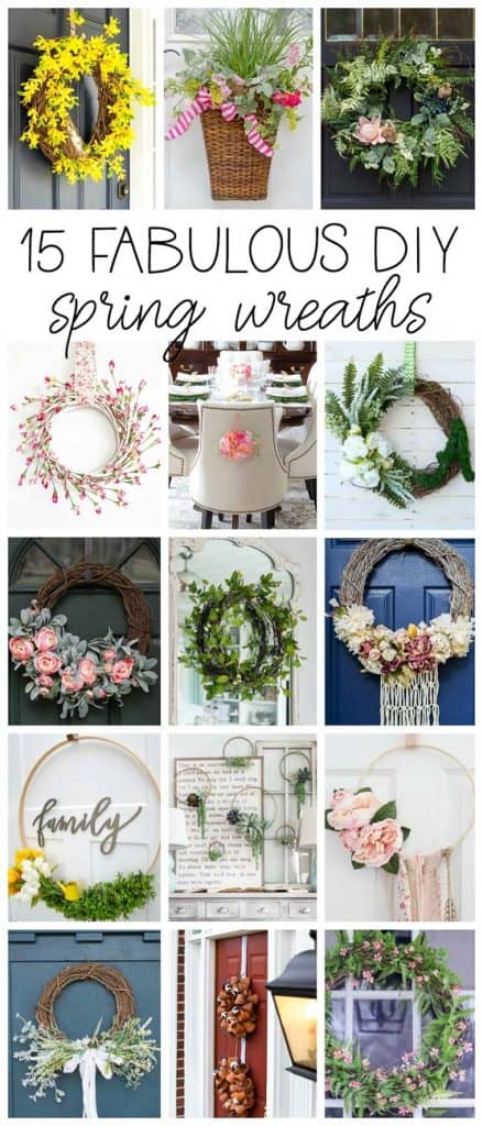 15 Fabulous DIY Spring Wreath Projects! #DIYwreath #SpringDecor #SpringWreath #SpringWreathIdeas #HowToMakeADIYSpringWreath #DIYWreathIdeas #WreathProjectIdeas