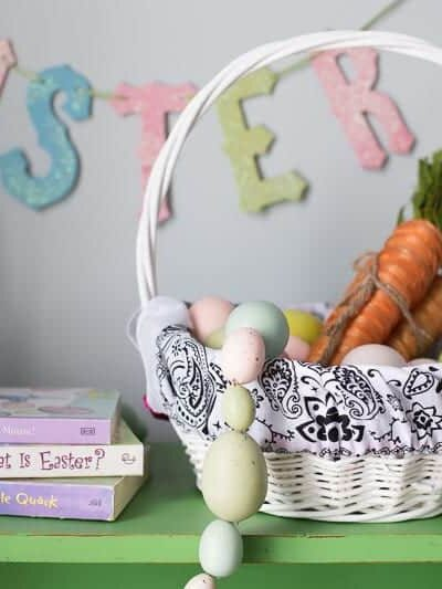 Bandana Easter Basket Liner. A 2-minute DIY for Spring!