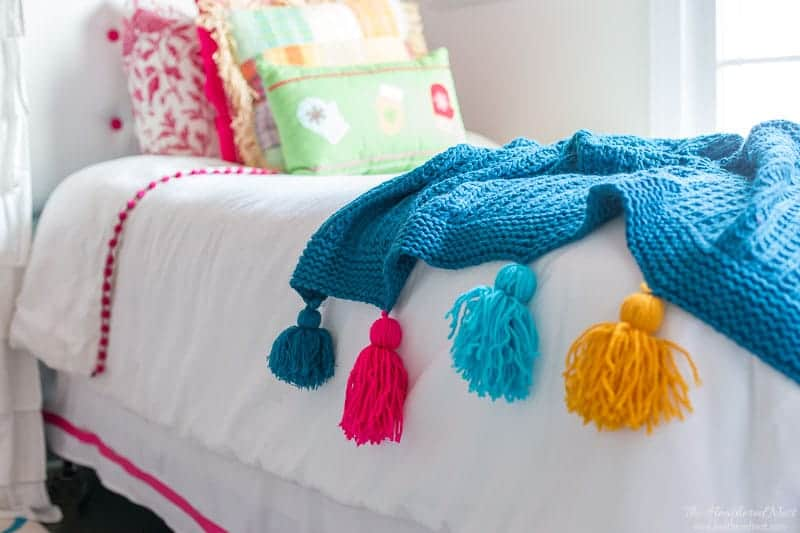 Easy DIY Tassel Throw