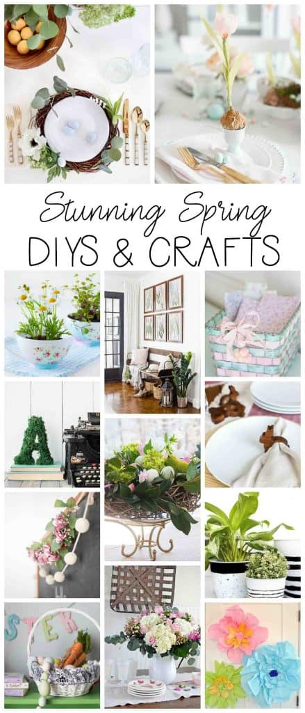 Stunning Spring DIY and craft projects to try! Get ready for springtime now! #springcrafts #springDIYprojects #easyspringcrafts