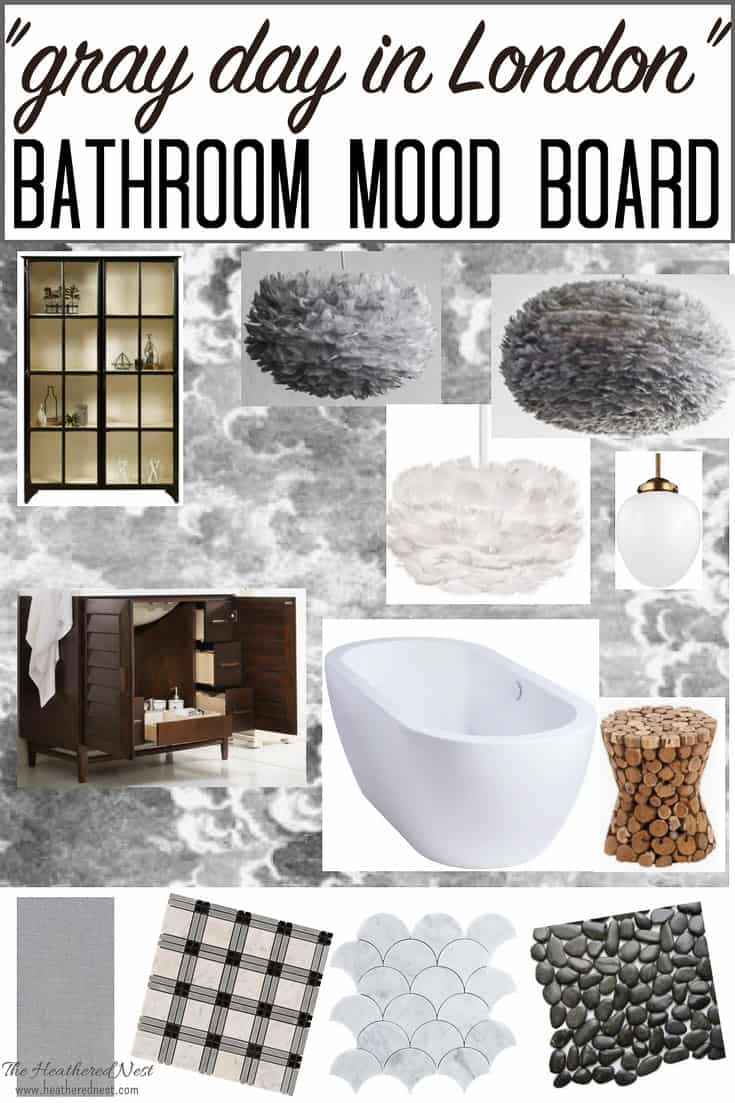 Ooohh isn't this master bathroom mood board gorgeous? The inspiration is