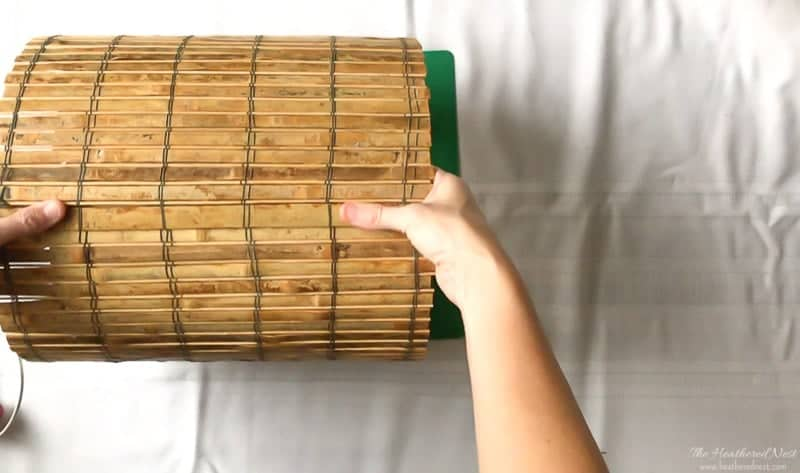Easy Ceiling Light Shades: DIY lighting project made from bamboo placemats!