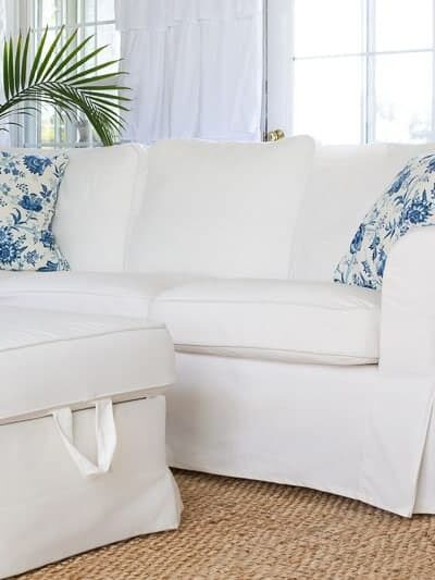 Living with a White Sofa + Kids. How to Clean the Ikea Ektorp Cover.