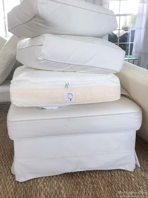 White sofa? With kids? YEP. If you're sitting on the fence of the white couch debate, check this out. How we keep our Ikea Ektorp sofa clean, year after year.