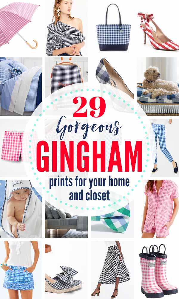 29 BEST Gingham print / Buffalo Check Items For Your Home and Closet, Kids and Pets.