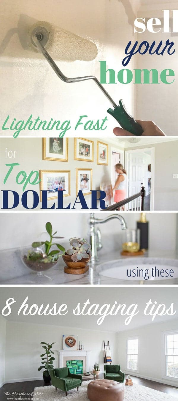 8 expert house staging tips to help you sell your home lightning fast and maximize your profits! Super helpful DIY home staging ideas from a real estate expert with experience renting, buying, selling, staging and designing homes and interior spaces. #homestaging #housestaging #staging #stagingahousetosell #stagingahousetosellideas