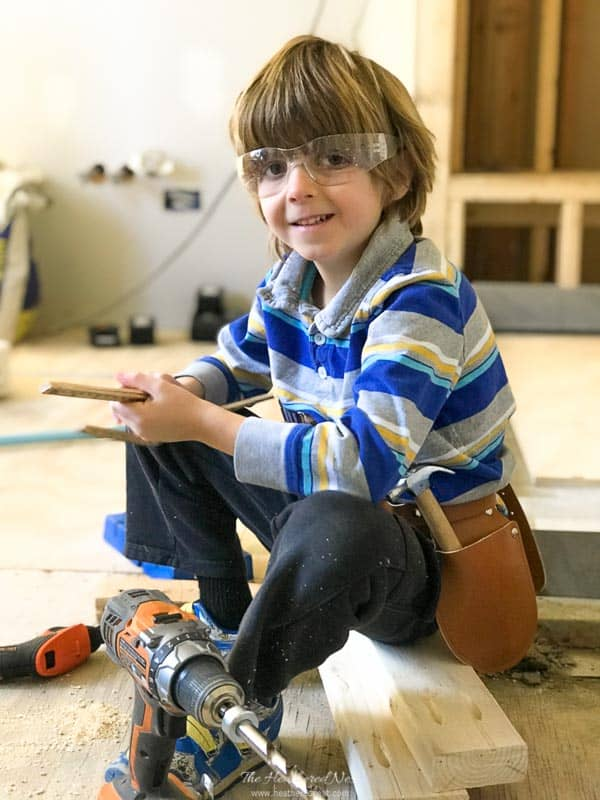 5 fun ways to teach kids DIY skills they can use for a lifetime! Teach kids to use tools and proper tool safety! #teachkidsDIY #toolsafety #kidsDIY #teachingDIYtokids #teachkidstools