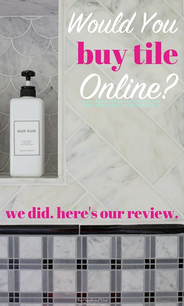 Scared to purchase tiles online? We were! Here's a review of our experience purchasing natural stone, marble tiles online. #tile #onlinetilesources #tilesources #tileselection #selectingtiles #marbletile #subwaytile #marblesubwaytile #tilepatterns #buyingtile #carraramarble