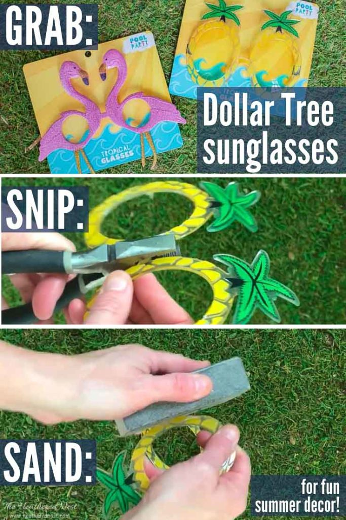 Easy Dollar Tree Summer DIY decorating idea! DIY Napkin rings!