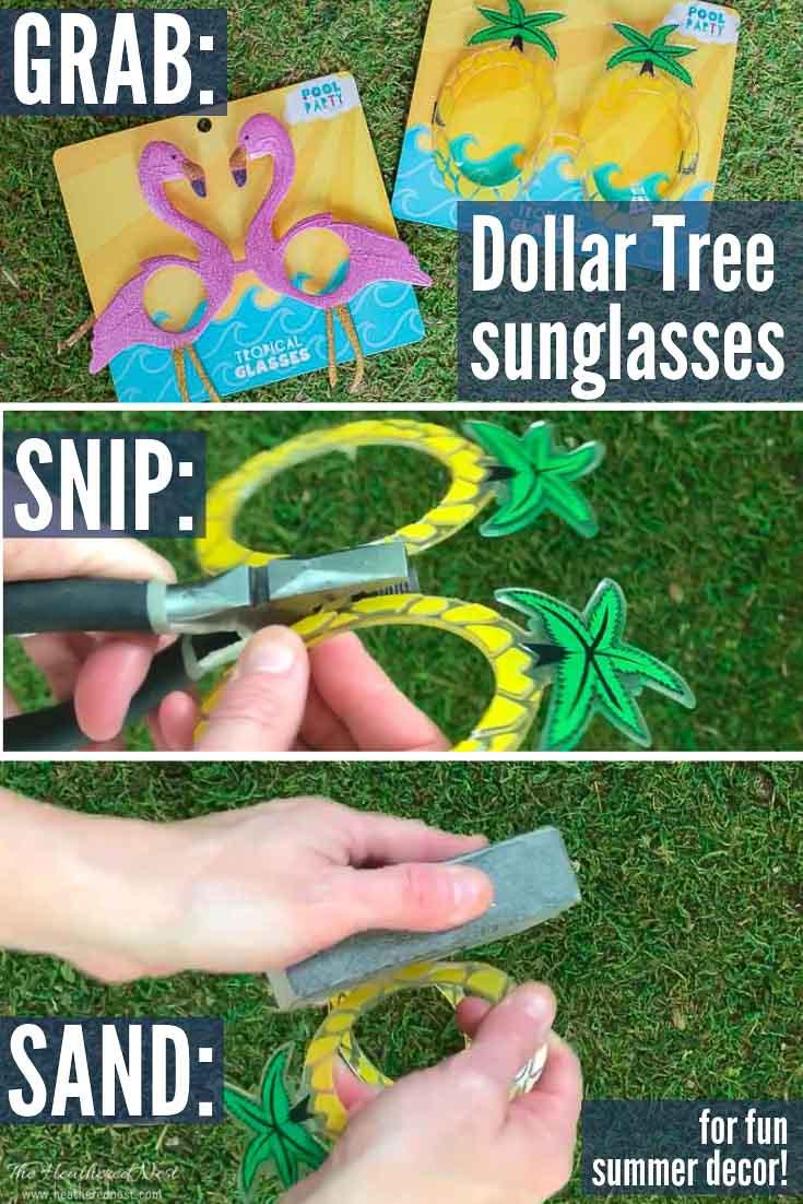 Easy Dollar Tree Summer DIY decorating idea! DIY Napkin rings!