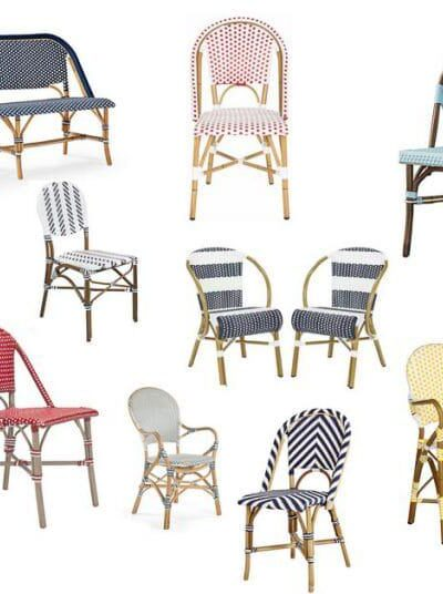 38 prettiest and most affordable french bistro chairs