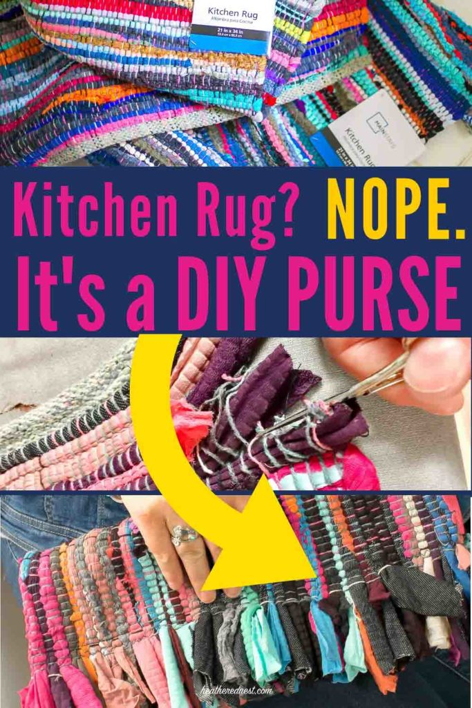 ADORABLE 👛!! How to make a DIY purse from a kitchen rug! This DIY clutch was made from a $10 rag rug! #DIYclutch #DIYpurse #howtomakeapurse #howtomakeahandbag #ragrug #DIYfashion #handbagDIY #clutchpatterns #clutchsewingprojects #handmadeclutch #easyclutch #howtomakeclutch #stepbystepclutch #simpleclutch #clutchtutorial #bagDIY #bagpattern #baghandmade #pursepattern #simplepurse #simplebag #easypurse #easybag #easyhandbag #pursehandmade