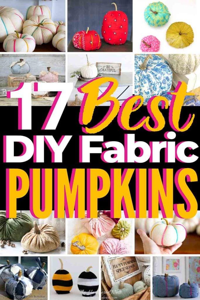 17 best DIY fabric pumpkin crafts