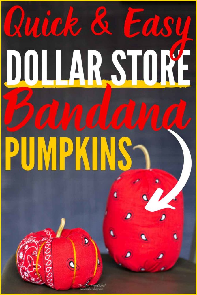 Easy Fall Dollar Store Craft! DIY Bandana Pumpkins!