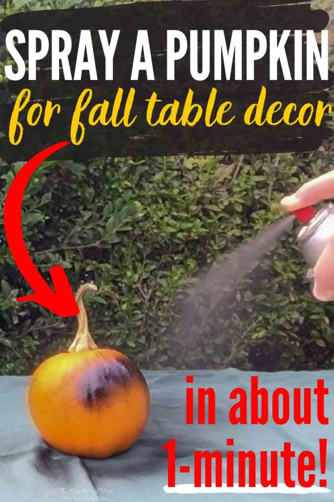 Easy and Fast One-Minute Chalkboard Pumpkin Craft - Great for fall table decor and guest place cards!