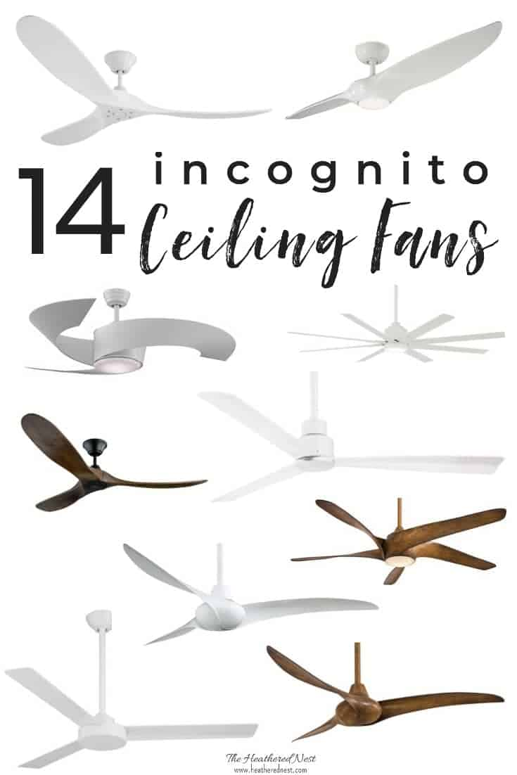 Craving air circulations but the look of ceiling fans make you cringe? Here are design tips for making a fan work! And the 14 BEST ceiling fans around! #stylishceilingfans #ceilingfanroundup #ceilingfans #modernceilingfans #ceilingfanideas #lowprofileceilingfans #ceilingfanmakeover #prettyceilingfans #nonuglyceilingfans