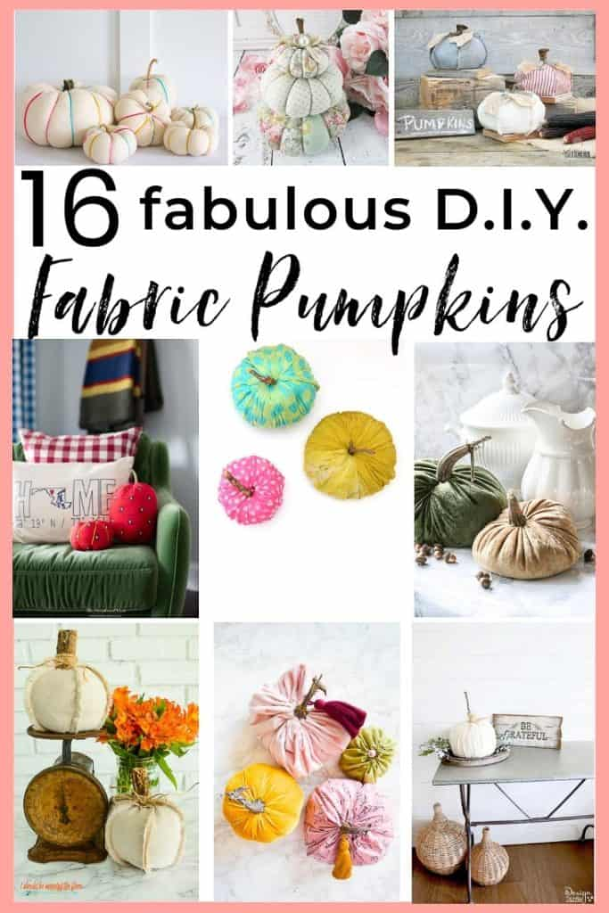 Fabric pumpkins are easy to make, and there are so many fun DIY pumpkin ideas to try! We gathered a whole patch full of fun pumpkin DIY's for you & the kids to try this fall! #pumpkinideasfabric #fabricpumpkins #sweaterpumpkins #velvetpumpkins #DIYpumpkinideas #easyfalldecoratingideas #nosewpumpkins #nocarvepumpkins #fauxpumpkins #DIYfauxpumpkinideas #DIYfauxpumpkins #DIYfabricpumpkins