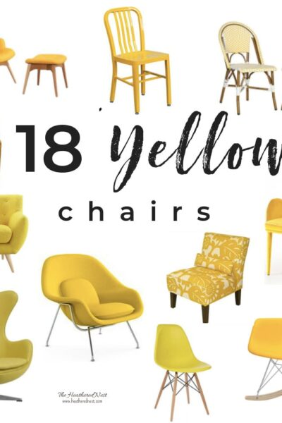 18 amazing yellow chairs - a shopping guide