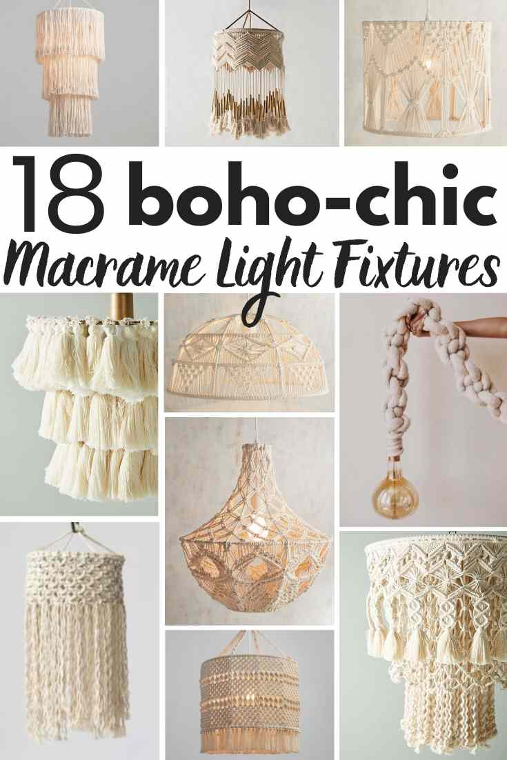 6 DIY macrame lighting projects +18 gorgeous macrame pendant lights you can buy! A shopping guide for the latest lighting craze. Macrame is popular for a good reason! These are ammmazzzing boho pendants!