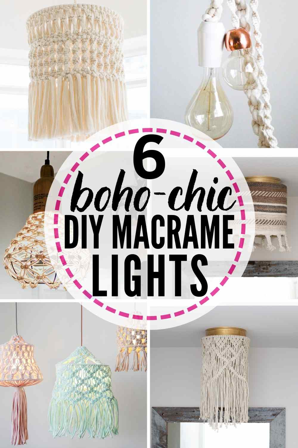 6 boho-chic DIY macrame lights to try!