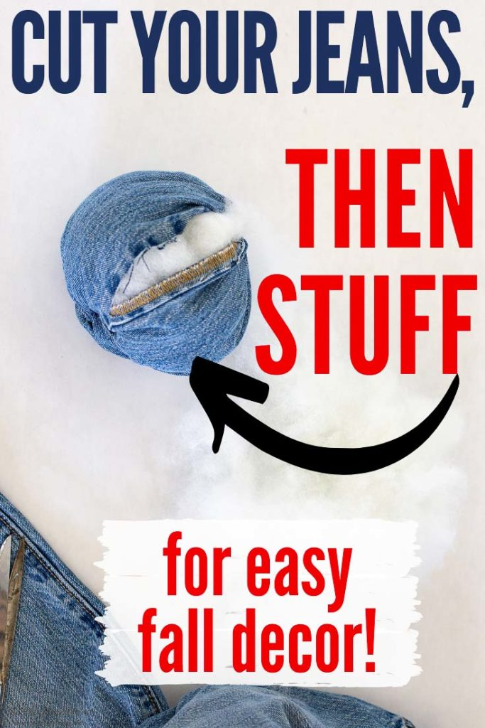 How To Repurpose Old Jeans To Make a Classic, Cute Pumpkin Craft for Easy Fall Decor