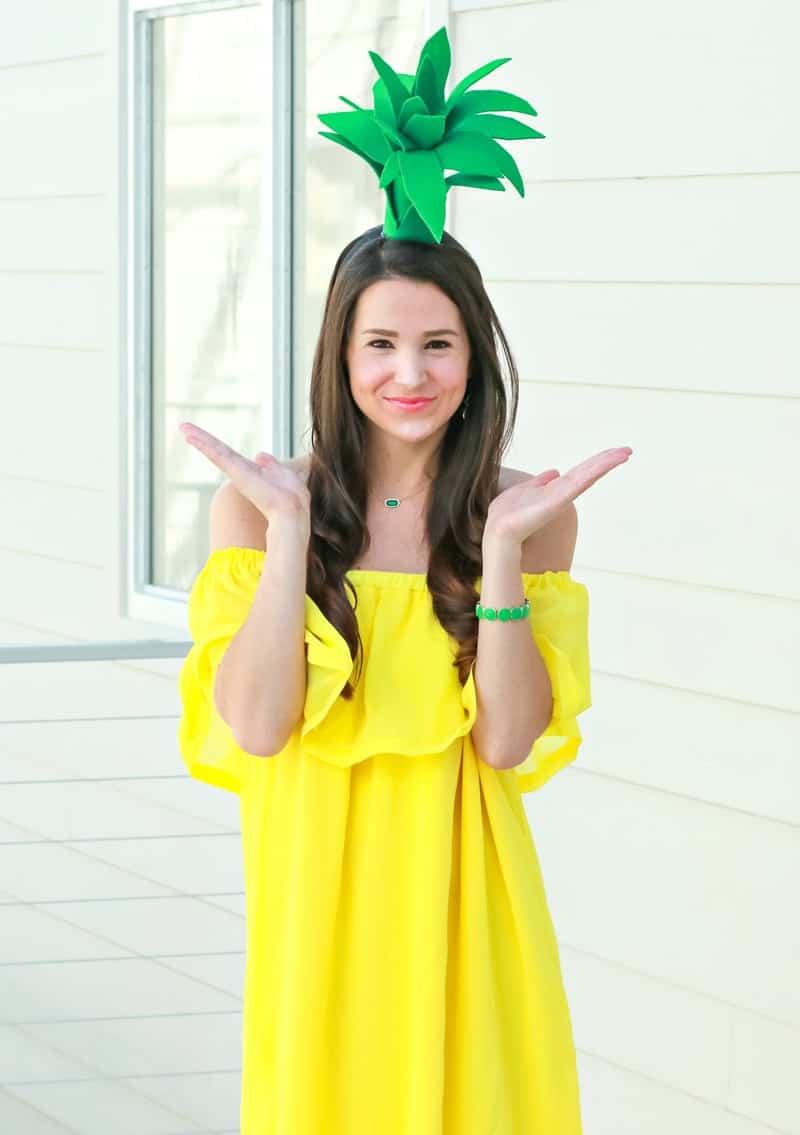 last minute halloween costume idea - pineapple